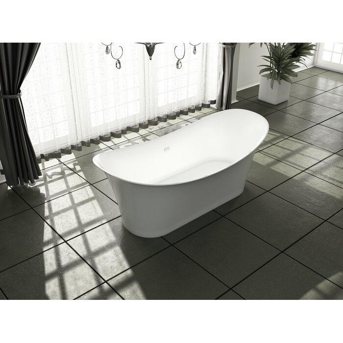 Streamlinebath Solid Surface Resin 67 X 32 Freestanding Soaking