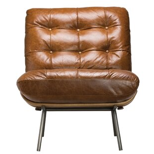Primeaux Leather Lounge Chair by Foundry Select