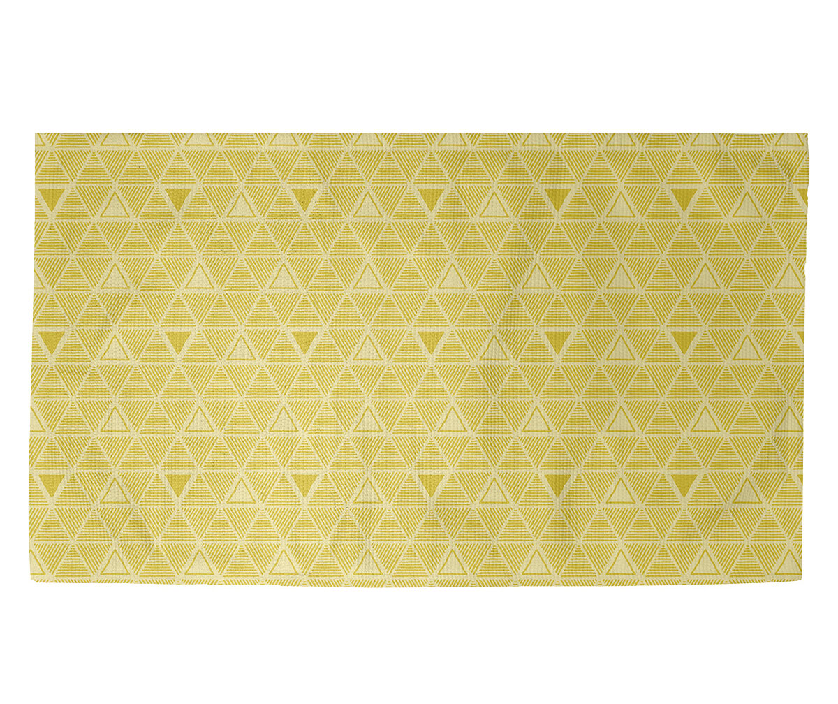 Brayden Studio Jordao Triangles Yellow Area Rug Wayfair