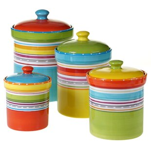 Villines 4 Piece Kitchen Canister Set