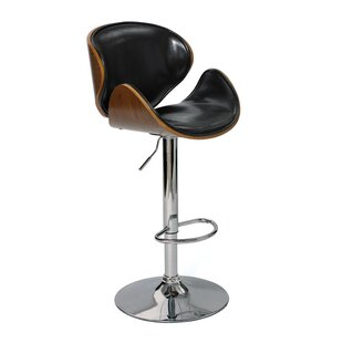 Fuston Adjustable Height Swivel Bar Stool Brayden Studio