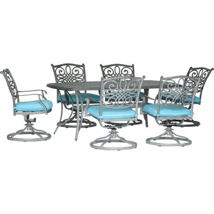 Wyman 7 Piece Dining Set With Cushion by Charlton Home No Copoun