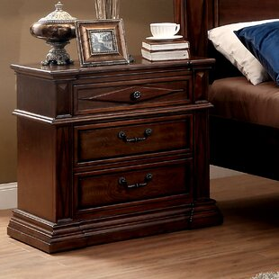 Astoria Grand Blair 3 Drawer Nightstand