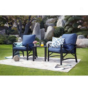 Derwent 3 Piece 2 Person Seating Group with Cushion