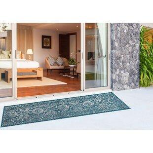 Arverne Floral Teal Indoor/Outdoor Area Rug