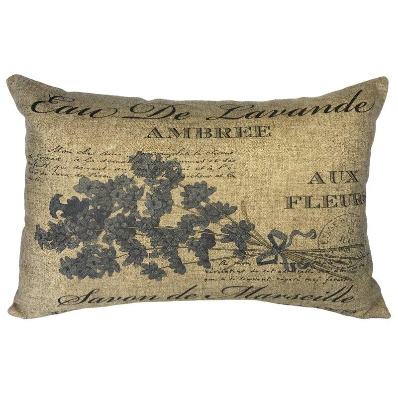 Ia French Lavender Linen Lumbar Pillow Reviews Wayfair