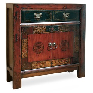 Asian 2 Door/1 Drawer Hall Accent Cabinet