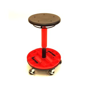 Height Adjustable Tool Trolley with Removable Tray - Low