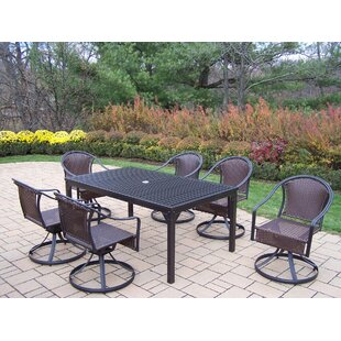 Red Barrel Studio Lisabeth 7 Piece Swivel Dining Set