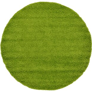 Angeline Shag Green Area Rug by Turn on the Brights