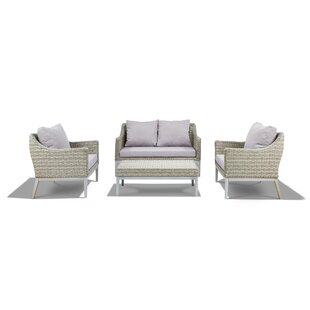 Crowson 4 Piece Outdoor Sofa Set by Corrigan Studio Modern