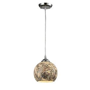 Wrought Studio Petterson Glass 1-Light Globe Pendant