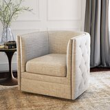 Lavaca 30.3'' Wide Tufted Polyester Yes Barrel Chair