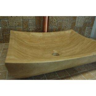 Zen Deep Stone Rectangular Vessel Bathroom Sink
