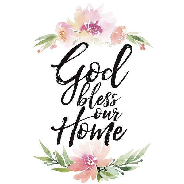 New Dexsa Woodland Grace God Bless Our Home Textual Art on Wood | Wayfair IP17