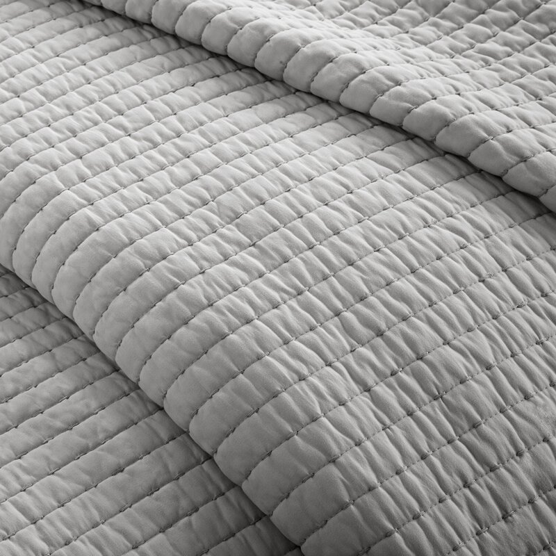 Light Grey Quilted Coverlet Set. #coverlet #bedroomdecor #greyquilt