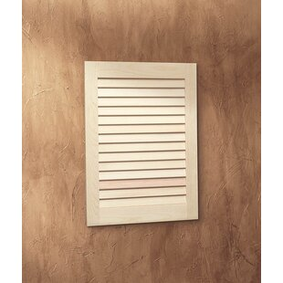 Louver 16 W x 22 H Recessed Cabinet by Jensen