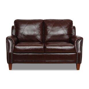 Austin Leather Loveseat by Williston Forge