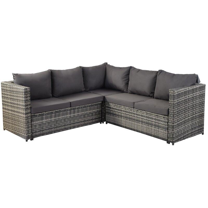 Outdoor Lu 7 Seater Rattan Sofa Set