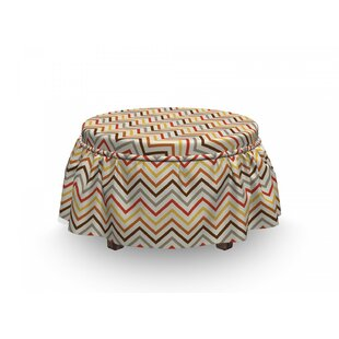 Triangle Wave Ottoman Slipcover (Set Of 2) By East Urban Home