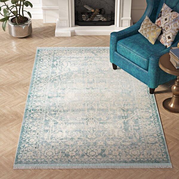 Willa Arlo Interiors Omri Power Loom Light Blue Rug Reviews Wayfair