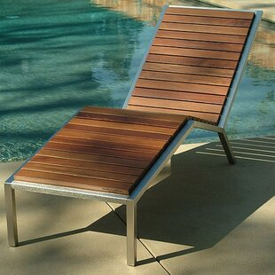 Modern Outdoor Talt Fixed Chaise Lounge