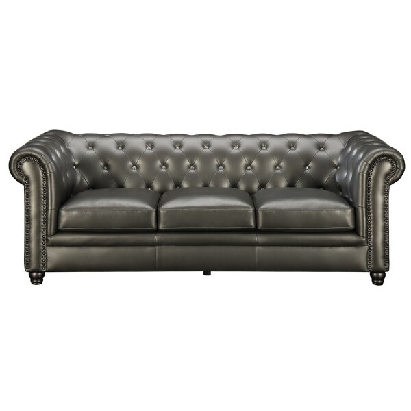 Darby Home Co Seevers Leather Chesterfield Sofa U0026 Reviews | Wayfair