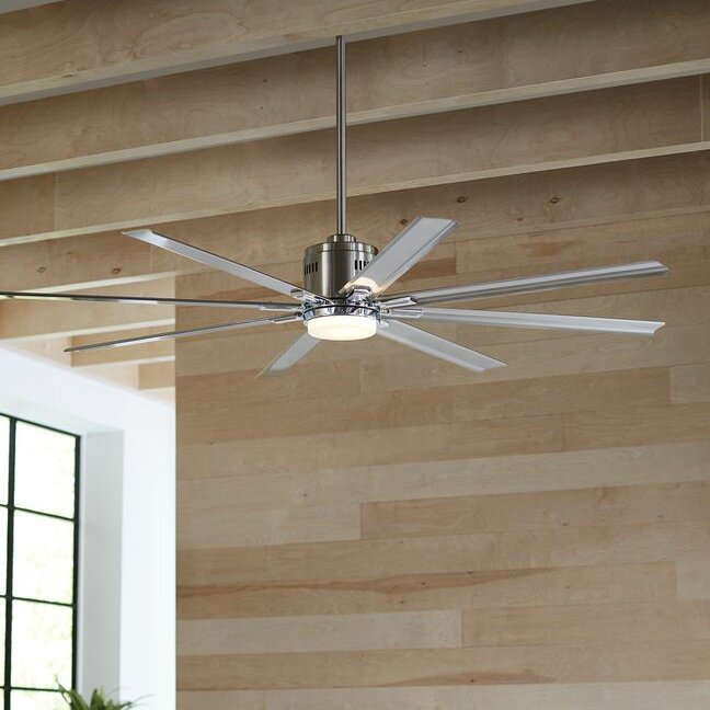 72 Bankston 8 Blade Led Ceiling Fan With Remote Light Kit Included