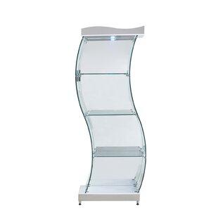 Mateas S Shaped Gl Bookcase