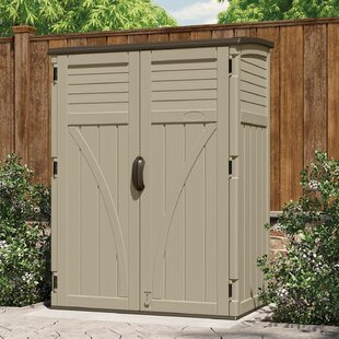 Buy Cheap 4.5 ft. W x 2.5 ft. D Plastic Vertical Tool Shed Suncast