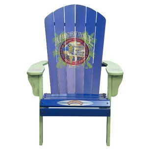 Port of Indecision Wood Adirondack Chair