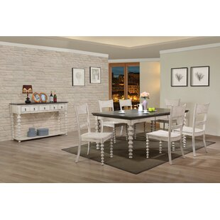 Gaetana Solid Wood Dining Table Highland Dunes