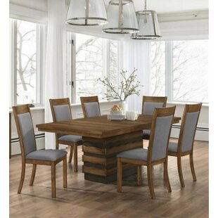 Fostoria 7 Piece Extendable Solid Wood Dining Set