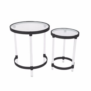 Ivy Bronx Mclendon Acrylic 2 Piece Nesting Tables