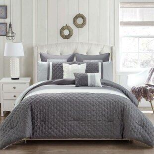Gracie Oaks Elvie 6 Piece Reversible Comforter Set