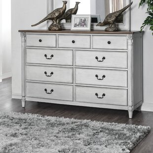 Jean 9 Drawer Double Dresser