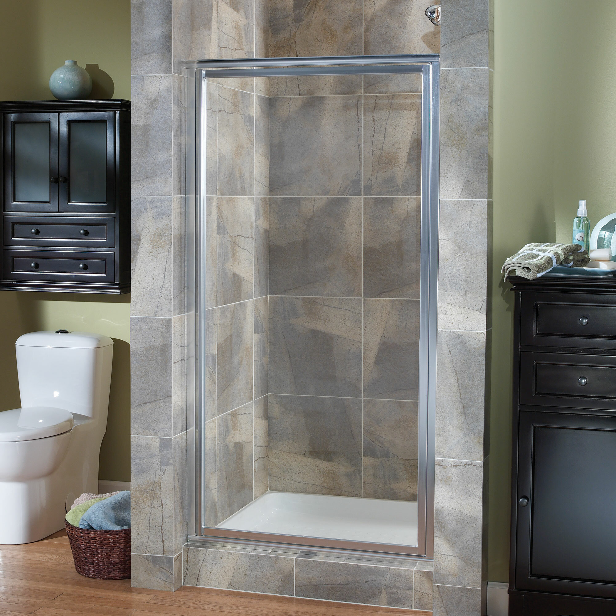 """Chase 10"""" x 10"""" Pivot Framed Continuous Shower Door"""