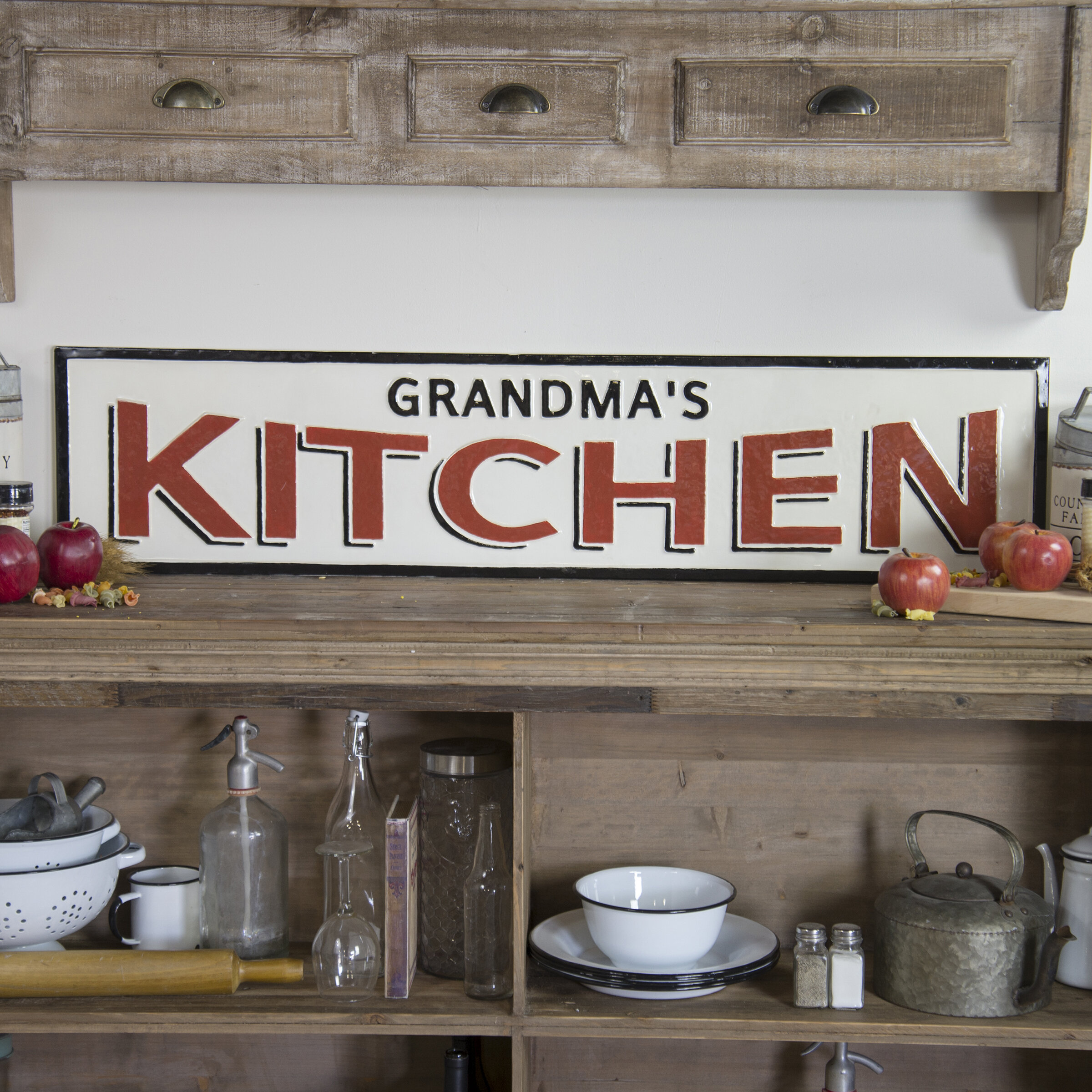 Winston Porter Metal Sign Grandma S Kitchen Wall Decor Reviews Wayfair