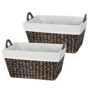 Compare & Buy Tahiti 2 Piece Wicker Towel Utility Basket Set By Bay Isle Home