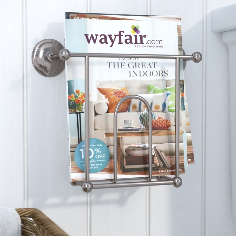Leslie Wall Mounted Magazine Rack