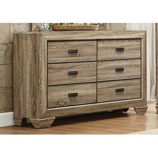 Hucksley Wooden 6 Drawer Double Dresser