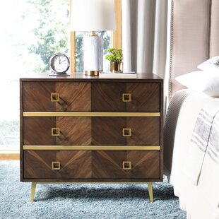 Budget Bronaugh 3 Drawer Chest by Bungalow Rose