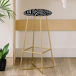 The Old Art Studio Monochrome 31 Bar Stool East Urban Home