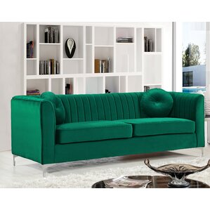 Herbert Chesterfield Sofa. Burgundy. Burgundy. Green