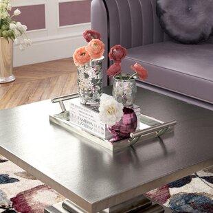 Traditional Rectangular Mirror/Metal Serving Tray