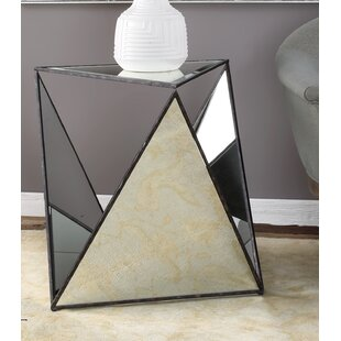 Smiley Tripod Mirrored End Table