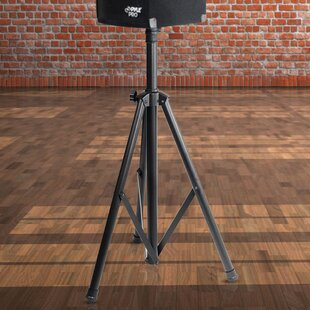 Dual Universal Adjustable Height Speaker Stand Set of 2 by Pyle
