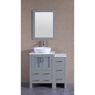 Vivaan 36 Single Bathroom Vanity Set with Mirror By Bosconi
