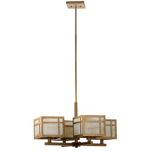 Ebern Designs Reynold Craftsman 4-Light Shaded Chandelier