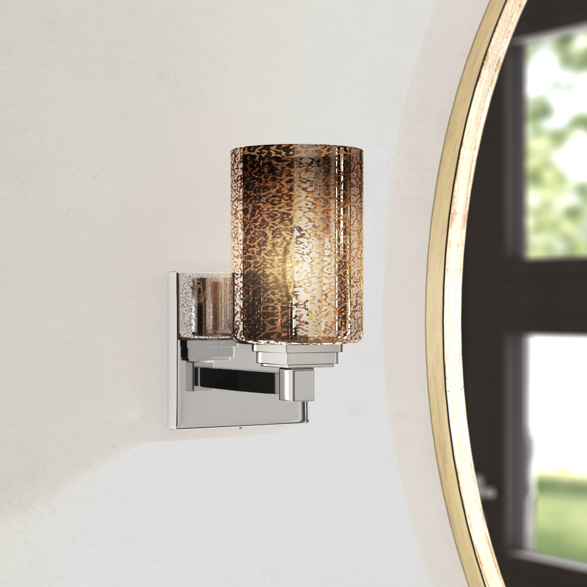 Latitude Run Donashia 1 Light Led Armed Sconce Wayfair